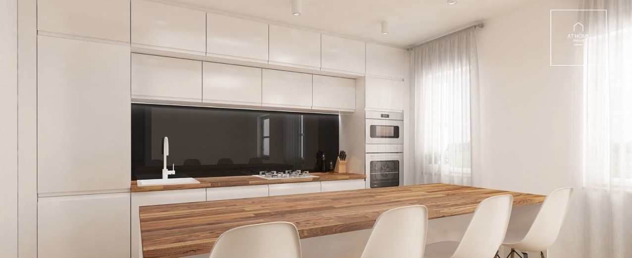 Modern kitchen and bar