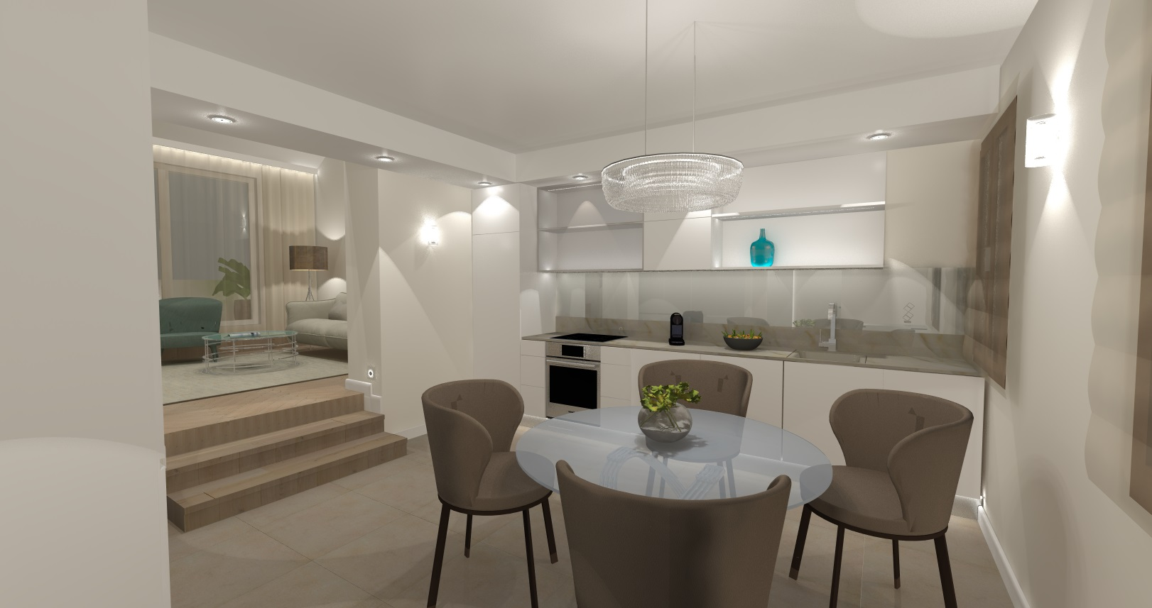 design plan of a luxury flat in budapest