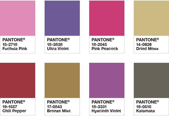 színes pantone lakberendezés